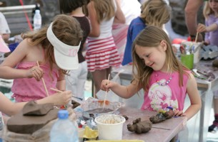 Children enjoying one of the workshops - image copyright Roy Riley (www.royriley.co.uk)